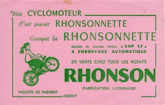 rhonson rhonsonette 1957.1958